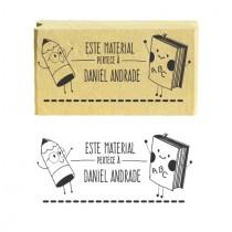 Carimbo Personalizado Etiqueta Escolar