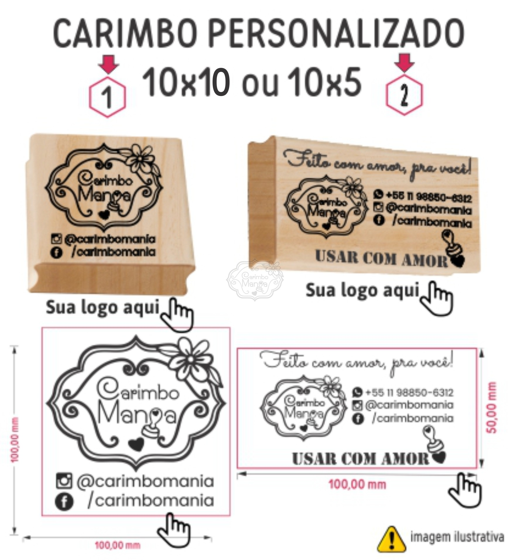 Carimbo Personalizado 10cm a partir de R$74,90