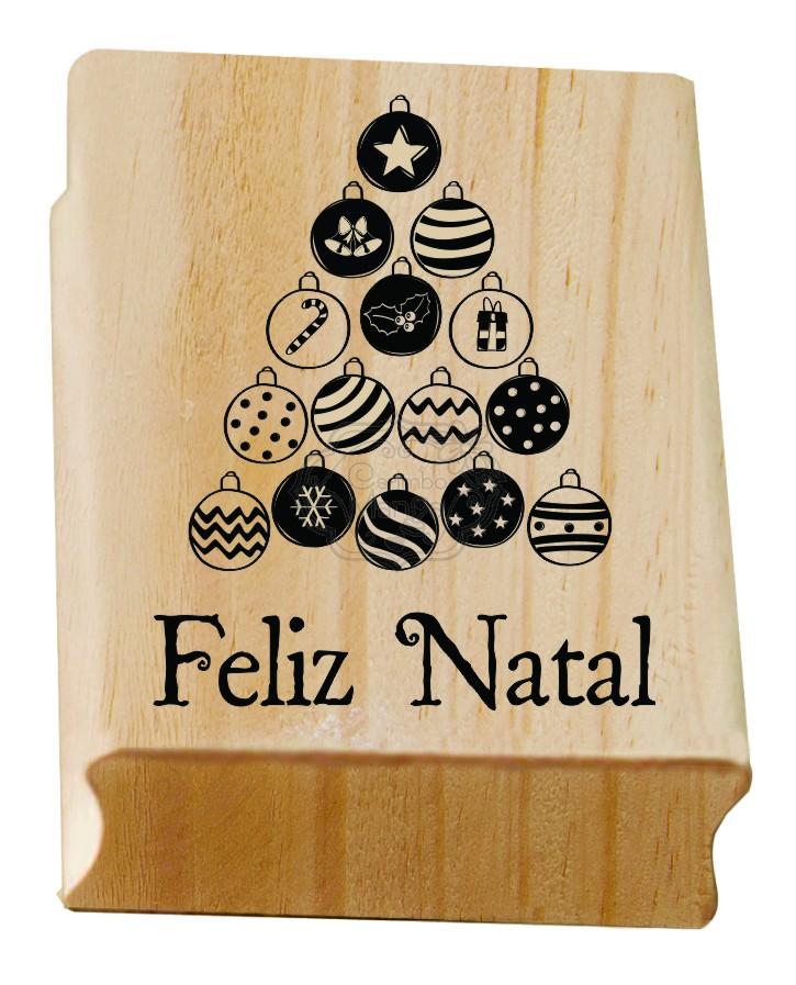 Carimbo Árvore Bolas de Natal