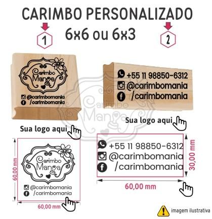 Carimbo Personalizado 6cm a partir de R$44,90