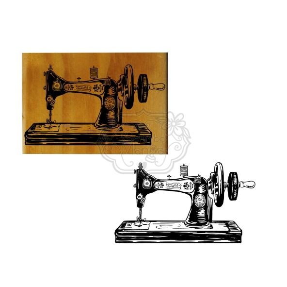 Carimbo Maquina de Costura Vintage
