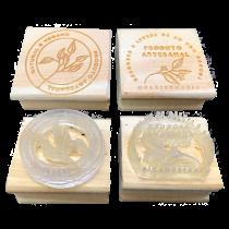 Carimbo Produto Artesanal Natural e Vegano para Sabonetes