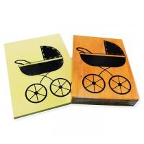 carimbo carrinho de bebe vintage