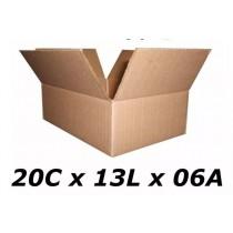 Caixas De Papelão 20 X 13 X 06 Tipo 1 Correio