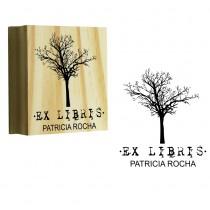 Carimbo Personalizado Ex-Libris Arvore