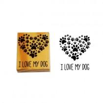 Carimbo Ilove My Dog