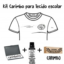 Kit Carimbo Escolar tecido.