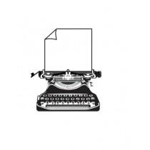 Carimbo Maquina de Escrever Vintage