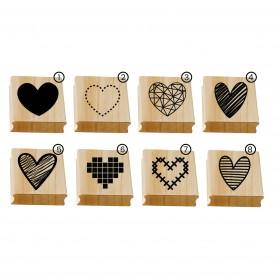 Carimbo mini corações a partir de R$12,90 cada