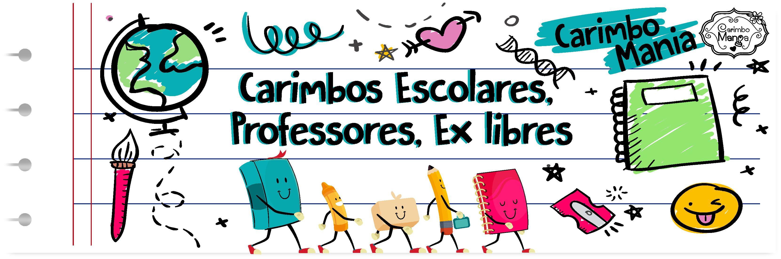 Carimbos Escolares, Professores, Ex libris